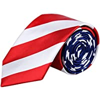 Alizeal Men's USA Flag Bow Tie/Necktie/ Bow Tie& Suspender Set