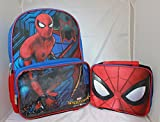 Spiderman Boys SchoolバックパックランチボックスブックバッグCamboセット