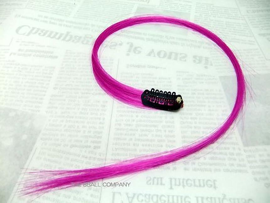 刺繍スカートポルティコ簡単装着クリップ式ワンポイント?ヘア?エクステンション 紫(パープル)