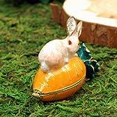 ピアース ジュエリーボックス クリスタル 宝石箱 アニマル 287 こんなジュエリーボックスが欲しかった ロマンチックでエレガント まるでジュエリーのような宝石箱 にんじんの上にちょこんと乗ったうさぎがキュート ウサギ・ラビット・キャロット