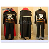 宇宙海賊キャプテンハーロック ハーロック風 コスプレ衣装 男女XS-XXXL オーダーサイズも対応可能