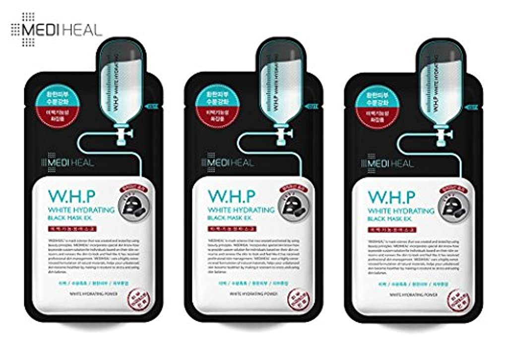 無駄な死【正規輸入品】メディヒール Mediheal W.H.P 美白水分 ミネラル 炭 マスクパック (10枚)