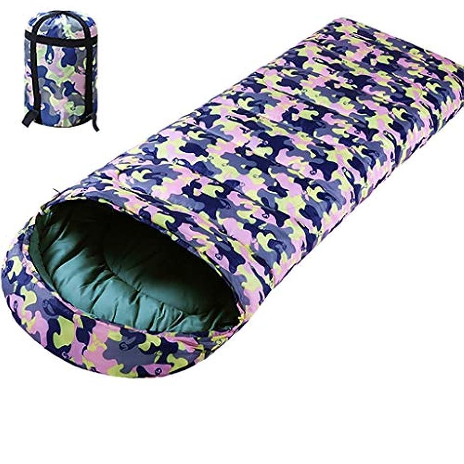 脇にスマッシュ喜劇YLIAN ダブル寝袋 圧縮袋で寝袋キルトバックパッキングアウトドアインドア通気4シーズンズ暖かいキャンプを眠れる森の防水軽量コットン (Color : B 3.1Lbs)