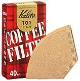 カリタ コーヒーフィルター 101ロシ(1~2人用) ブラウン 40枚入り 「10パックセット」