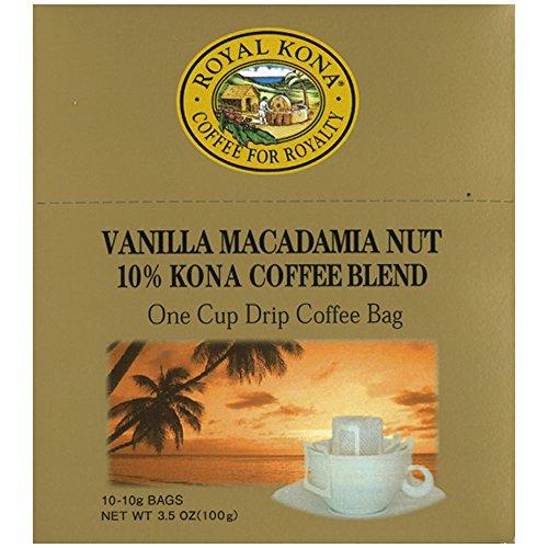 ロイヤルコナコーヒー ワンドリップバッグ 10g ×10袋 バニラマカダミアナッツ