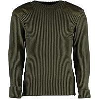 TW Kempton British Commando Sweater Woolly Pully Crew Neck with Epaulets