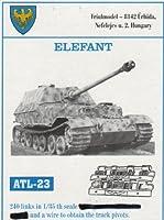フリウルモデル 1/35 金属可動履帯 エレファント用 金属パーツ ATL-23