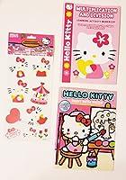 新しい。Hello Kitty ( 3個入り)アクティビティブックバンドル:ペイントwith水、乗算& Divisionブック&ステッカーデカール
