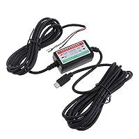 Perfk 車 DVR  充電器 ダッシュ カム アダプタ 3A適用 マイクロ USB スマート 専用 電源ボックス アクセサリー 部品