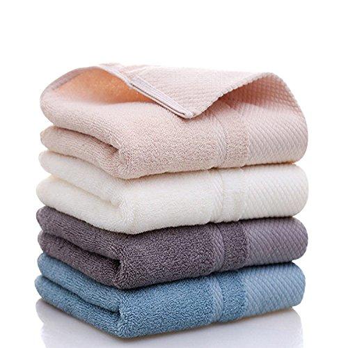 フェイスタオル 100%綿 おしゃれ 吸水抜群 ホテルスタイルタオル 約34*74cm 4色4枚セット