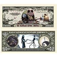Set of 10 Bills - Nightmare Before Christmas Million Dollar Bill by American Art Classics [並行輸入品]
