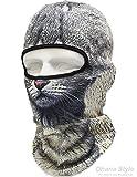動物柄 フェイスマスク 3D アニマル マスク フルフェイスマスク バラクラバ 目出し帽 / サバイバルゲーム・自転車・バイク・アウトドア・コスプレ (猫)