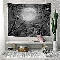 壁掛け森の月プリントタペストリー家の装飾テーブルクロスビーチマット