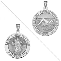 Swimmer (メス)–Saint Christopher doubledsideスポーツReligious Medal
