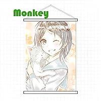 Monkey タペストリー やはり俺の青春ラブコメはまちがっている。 ひきがや こまち Hikigaya Komachi掛ける絵 巻物 同人 部屋飾り壁 おしゃれ 可愛い アニメ好き 萌え(90cmX85cm)