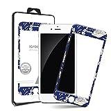 i-croo-A iPhone6/6S フルカラーデザインガラス 液晶保護フィルム 99.99%抗菌機能 強化ガラス 液晶保護製品 2.5Dラウンドフルカバー 指紋防止 10H表面強度 [海外直送品] (13. Blue Flower) [並行輸入品]
