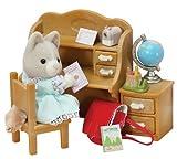 エポック社 シルバニアファミリー Sister at Home Set オークル犬と勉強机セット 海外版