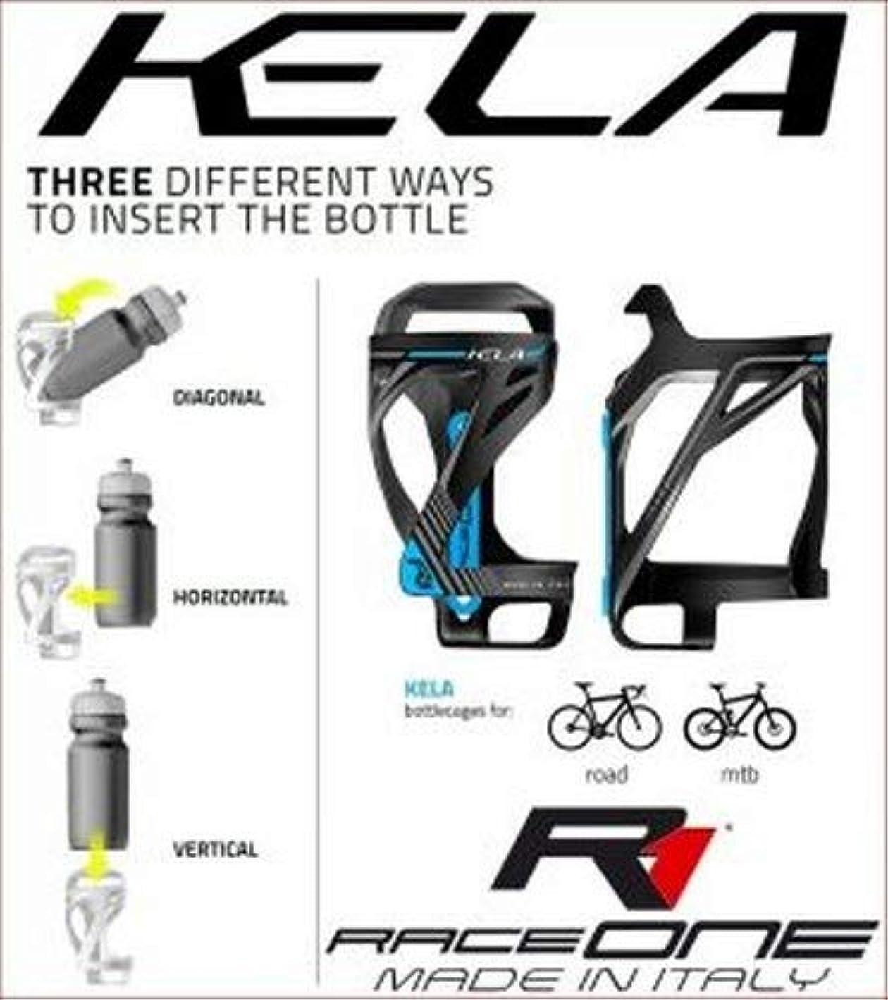 ノイズ壁紙シリアルRaceOne Kela自転車ボトルケージ - ブラック/ブルー、シングル