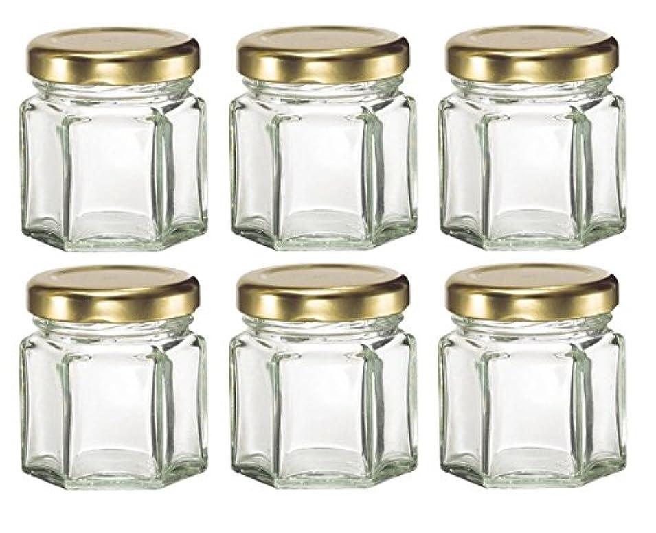 彼女の休憩アミューズPlant Therapy 1.5 oz Mini Hexagon Glass Jars used for Magnetic Spice Rack, Honey, Candles, Jam, Gifts and More...