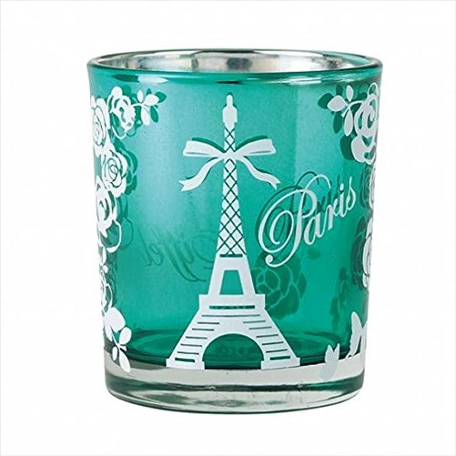 オーラル却下するラッシュカメヤマキャンドル(kameyama candle) エッフェル塔オーロラカップ 「 エメラルド 」