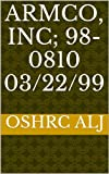 Armco, Inc; 98-0810  03/22/99 (English Edition)