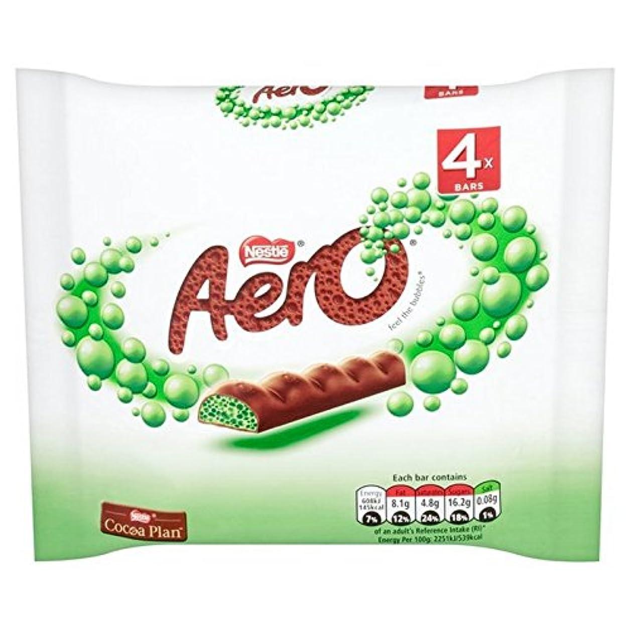 文房具人生を作る平行(Aero (エアロ)) チョコミント分厚いバーが4×27グラムをマルチパック (x4) - Aero Chocolate Mint Chunky Bars Multipack 4 x 27g (Pack of 4) [...
