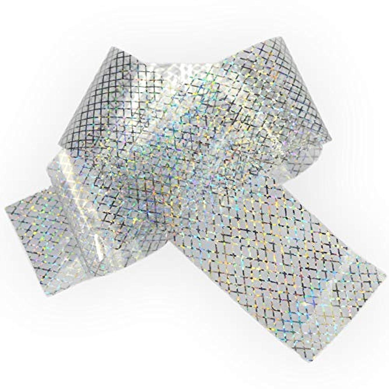 銀メディカル雑種100x4cmホログラフィック星空ネイル箔レーザーラインネイルアート転送ステッカーシャイニーネイルジュエリーアクセサリー