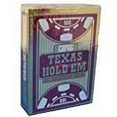 COPAG(コパッグ) テキサスホールデム プラスチックトランプ バーガンディ ポーカーサイズ レギュラーインデックス