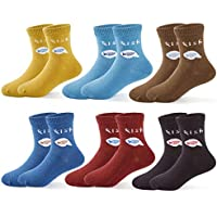 Boys Cotton Crew Socks Kids Seamless Toe Socks Colorful Athletic Quarter Socks