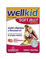 Wellkid Soft Jelly Strawberry Pastilles - by Wellkid