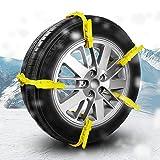 ロシヒ タイヤチェーン 自動車タイヤ滑り止めチェーン 簡易型 非金属タイヤチェーン 通用タイプ 緊急滑り止めチェーン 雪道/凍結/砂道/悪路155mm-275mm幅のタイヤ対応 10本入