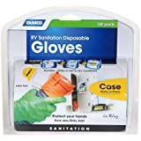 Camco Durable All Purpose RV Disposable Sanitation Gloves, Will Grip in Wet or Dry Conditions, Latex and Powder Free, Heavy D