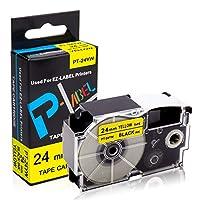 XR-24YW 24mm幅 黄地黒字 単品 カシオ用 ネームランド テープ カートリッジ 互換 ラベルテープ安心な永久保証【MITO Color】