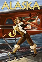 アラスカ – Aviator Pinup Girl 16 x 24 Signed Art Print LANT-45451-709