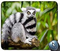 枝の上に座っている白と黒の動物カスタマイズされたマウスパッド長方形のマウスパッドゲーミングマウスマット