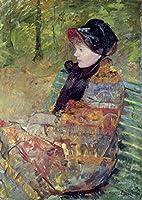 """壁アート印刷entitled Mary Cassatt, 1844–1926、Portrait of Mlle C。Lyd by天体イメージ 34"""" x 48"""" 5556213_5_0"""