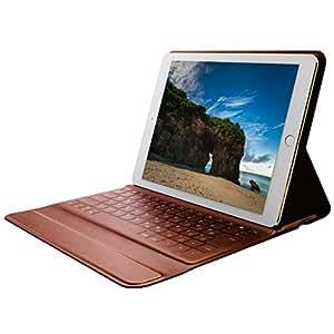 エレコム ワイヤレスキーボード ケース一体型 Bluetooth イタリアンソフトレザー iPad Pro 9.7/iPad Air/iPad Air 2対応 ブラック/ブラウン TK-RC30IBK