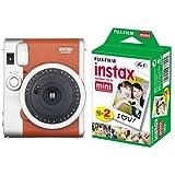 FUJIFILM インスタントカメラ チェキ instax mini 90 ネオクラシック ブラウン + チェキ用フィルム 20枚入 セット