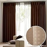ドレープ カーテン 2枚組 3サイズ同一価格 形態安定加工 幅100cm×丈178cm ベージュ