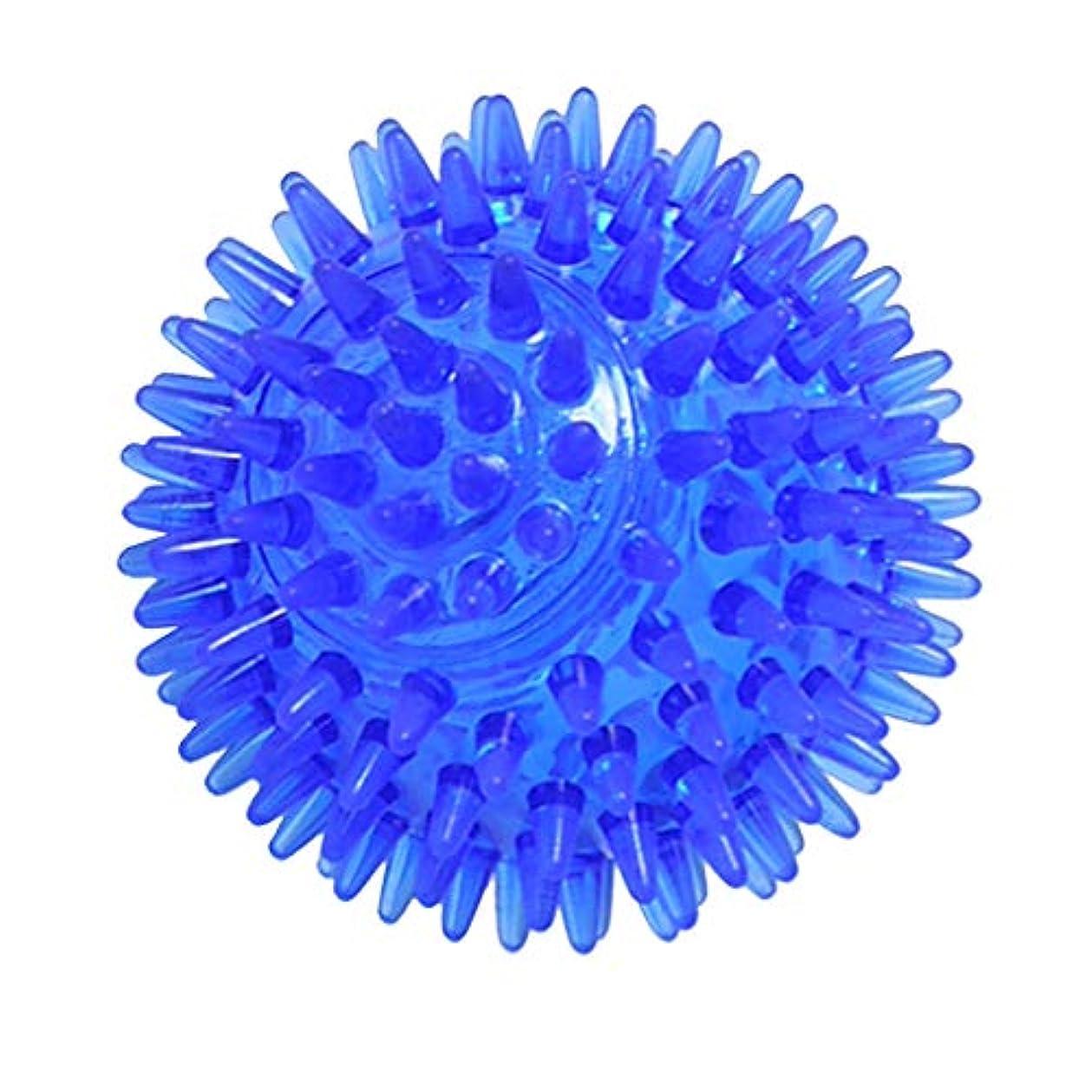 代理人マニフェスト多様性マッサージボール ヨガボール 3サイズ選べ - 青, 7cm