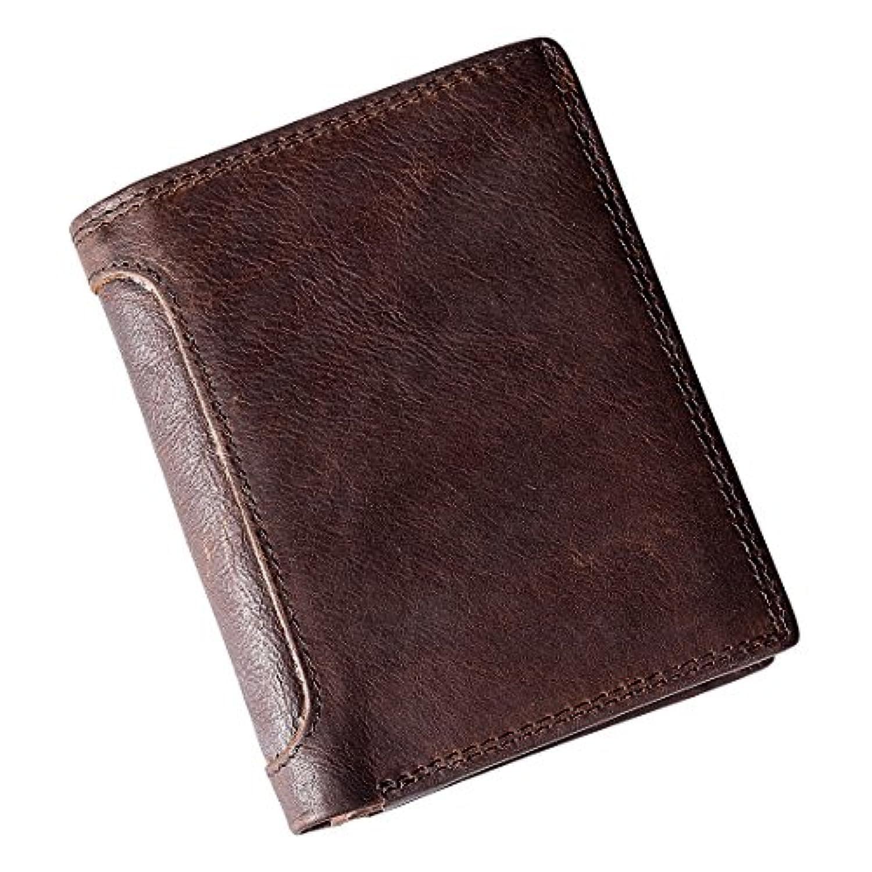 Shibaodi(スバーディ) 財布 メンズ 二つ折り 小銭入れあり 薄い コンパクト