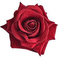 薔薇のフラワーコサージュ ヘアコサージュ 収納ケース付(ダークレッド)