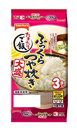 ふっくらつや炊き 大盛(250g*3食入)【たきたてご飯】[レトルト インスタント食品]
