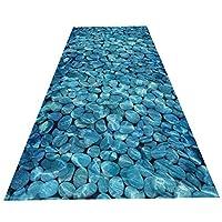 ZEMIN 廊下敷きカーペッ 健康 柔らかい 肌にやさしい カーペット 滑り止め バック 青、 2色、 マルチサイズカスタム (色 : A, サイズ さいず : 2x1m)