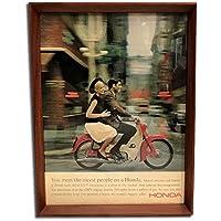 ホンダ スーパーカブ タウン 1960年代 ビンテージ広告 ポスター アートフレーム 額付