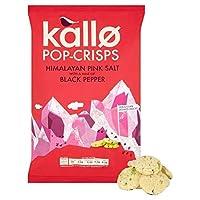 [Kallo] 袋85グラムを共有Kalloヒマラヤピンクソルト&ブラックペッパーポップチップス - Kallo Himalayan Pink Salt & Black Pepper Pop-Crisps Sharing Bag 85g [並行輸入品]