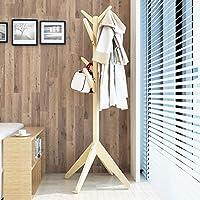 シンプルでモダンなシンプルな吊り服ラックコートラックフロアソリッドウッドクリエイティブハンガーフロアベッドルームハンガー (色 : B)