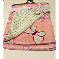Baby Blanket Butterflies Reversible by Sweet Lullaby