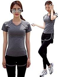 [Meishin] スポーツウェア レディース ヨガウェア 上下 3点セット 2点セット スポーツブラ ジム ウェア フィットネス トレーニング ランニング シャツ 【かわいい手提げ袋付】