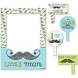 Bigドットの幸せのDashing Little Man Mustache Party – Birthdayパーティーベビーシャワーまたは写真ブース画像フレーム& Props – 頑丈な素材にプリント